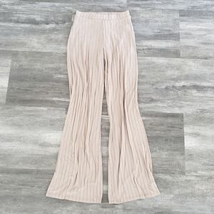 Nude High Waisted BB Wide Leg Pant